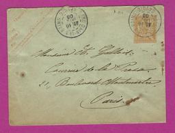 ENTIERS POSTAUX ENVELOPPE TYPE MOUCHON 15 Ct Obl GARE D' AIX LES BAINS - Postal Stamped Stationery