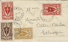1945- Enveloppe De Yaoundé ( Cameroun ) Affr. TP France Libre  Pour Addis-Abeba ( Ethiopie ) - Covers & Documents