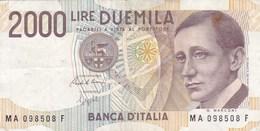 Italie - Billet De 2000 Lire - G. Marconi - 3 Octobre 1990 - 2000 Lire