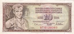 Yougoslavie - Billet De 10 Dinara - 12 Août 1978 - Jugoslawien