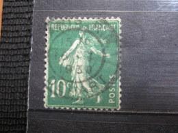 """VEND BEAU TIMBRE DE FRANCE N° 159 , OBLITERATION """" PARIS - DEPART """" !!! - 1906-38 Semeuse Camée"""