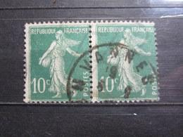"""VEND BEAUX TIMBRES DE FRANCE N° 159 EN PAIRE , OBLITERATION """" VANNES """" !!! - 1906-38 Semeuse Camée"""