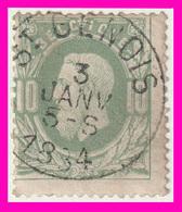 """COB N° 30 - Oblitération CONCOURS - """"St GENOIS"""" - 1883 Leopold II"""