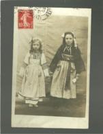 56 Carte Photo 2 Filles En Costume Et Coiffe , Région De Lorient - Non Classificati