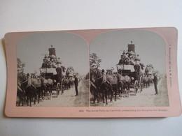 PHOTO STEREO  USA  - Concours De Beauté - Attelages - 1897 - Ed. Kilburn   TBE - Photos Stéréoscopiques