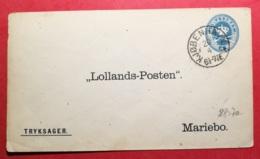 Entier Postal Avec Cachet Kjobenhavn - Postal Stationery