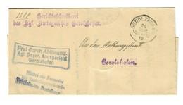 Brief 1918 Gerolzhofen, Frei Durch Ablösung, Kgl. Bayr. Amtsgericht - Allemagne