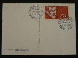 Carte Maximum Card Musée Gauguin Polynésie 1965 - Cartes-maximum