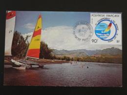 Carte Maximum Card Championnat Du Monde Hobie-cat Polynesie 1982 - Cartes-maximum