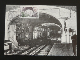 Carte Maximum Card Métro Subway Fulgence Bienvenue Uzel 22 Cotes Du Nord 1987 - Tramways