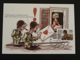 Carte Maximum Card Poste Militaire Poste De Campagne Feldpost Military Post BD Suisse 1989 (ex 4) - Cartes-Maximum (CM)
