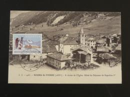 Carte Maximum Card Montagne Mountain Grand Saint-Bernard Bourg St-Pierre Suisse 1989 - Cartes-Maximum (CM)