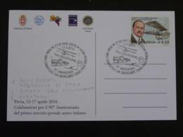Carte Commemorative Card Aviation Ligne Hydravion Seaplane Torino Trieste Italie 2016 - Airplanes