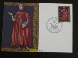 Carte Maximum Card écrivain Medieval Writer Petrarque Italie Italy Italia 2004 - Ecrivains