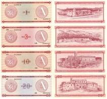 CUBA Set (4v) 1 3 10 20 Pesos ND (1985) P - FX - 1,2,4,5 Series A UNC - Cuba