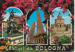 563 - BOLOGNA - VEDUTINE MULTIVUES - FONTANA NETTUNO - LE DUE TORRI - SANTUARIO B.V. DI SAN LUCA - VIAGGIATA 1969 - Bologna