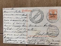 Baronne De Dieudonne Linden Leuven Korbeek-lo Tirlemont à Notaire Tallon Geetbets 1917 Gepruft - Leuven