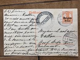 Baronne De Dieudonne Linden Leuven Korbeek-lo Tirlemont à Notaire Tallon Geetbets 1918 Gepruft - Leuven