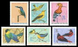 No. 456-461 Vietnam 1966  Birds - Viêt-Nam
