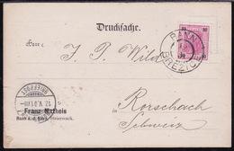 Rann - Brežice, Postcard (slight Damage In Left Lower Corner), Mailed 1901 To Switzerland - Slovenia
