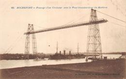Rochefort Sur Mer (17) - Passage D'un Croiseur Sous Le Pont Transbordeur Du Martrou - France