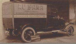 """Liège-Camion Du Magasin """"Au PAra"""" Situés Rue Cathédrale Et Place Du Roi Albert-Publicité Pour Une Carrosserie De Jupille - Automobiles"""