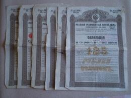 Emprunt Russe 3% OR 1894, Gouvernement Impérial De Russie Coupure De 500 Frs Ou 125 Roubles; Lot De 6 Titres - Russie