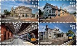 Irlande ( Eire ) 2212/15 Train, Gares - Eisenbahnen
