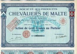 62-CHEVALIERS DE MALTE. STE DES PRODUITS DES ... - Acciones & Títulos