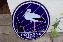Plaque émaillée Potasse D'Alsace - Autres