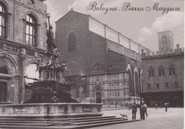 578 - BOLOGNA - PIAZZA MAGGIORE - FONTANA DEL NETTUNO - BASILICA DI SAN PETRONIO - ANIMATA - NON VIAGGIATA - Bologna
