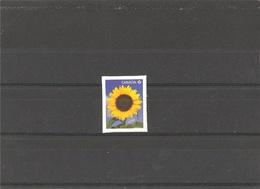 MNH Stamp With Sunflower - 1952-.... Règne D'Elizabeth II