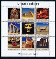 NN - NB - [401367]TB//**/Mnh-NN - Sao Tomé-et-Principe 2003 - Monuments D'Egypte, Pyramides, Sarcophages - Egyptology