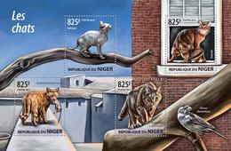 NIGER 2015 - Cats, Sparrow - YT CV=20 €, 2890-3 - Moineaux