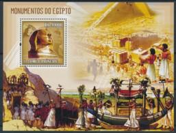 NB - [401601]TB//**/Mnh-Sao Tomé-et-Principe 2006 - Monument D'Egypte, Bateaux - Egyptology