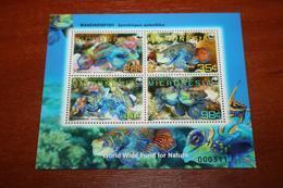 WWF Fish  Micronesia Rare Mini-block - Fishes