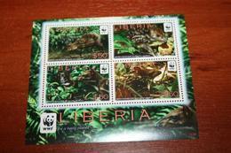 WWF Fauna Liberia  Rare Mini-block - Stamps