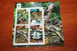 WWF  Sierra Leone  Rare Mini-block   Snakes - Snakes