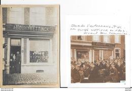 Jemeppe - Photo Collé Sur Carton - CORDONNERIE A.BOUHY-WETTINCK - Format: 18/13cm + Photocopie Enterrement En 1907 - Geschäfte