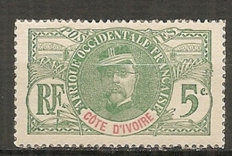 COTE I. - Yt.  N° 24   (*)  5c  Faidherbe   Cote  5  Euro BE R  2 Scans - Unused Stamps