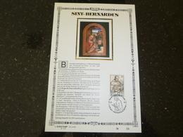 """BELG.1990 2391 : """" Sint Bernardus """" NL.Luxe Kunstblad Geslagen In Fijn Goud 23 Karaat , 200 Exemplaren - 1981-90"""