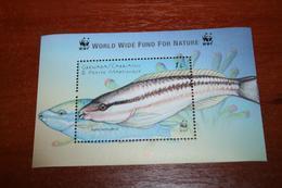 WWF Fish  Grenada Carriacou  Rare Mini-block - Fische