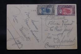 CÔTE DES SOMALIS - Affranchissement Plaisant Sur Carte Postale En 1934 Pour La France - L 58840 - Côte Française Des Somalis (1894-1967)