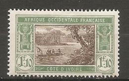 COTE I. - Yt.  N° 72A  *  1f10  Lagune    Cote  8  Euro BE   2 Scans - Elfenbeinküste (1892-1944)