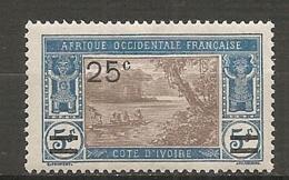COTE I. - Yt.  N° 74  *  25c S 5f  Lagune    Cote  1,2  Euro BE   2 Scans - Ungebraucht