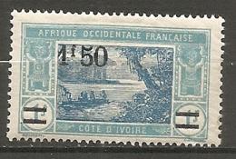 COTE I. - Yt.  N° 77  *  1f50 S 1f  Lagune    Cote  2,1  Euro BE   2 Scans - Ungebraucht