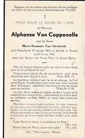 Nukerke, Nieuwkerke, Renaix, Ronse, 1944, Alphonse Van Coppenolle, Van Overtveld - Images Religieuses