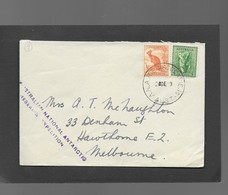 1949 COVER FROM MACQUARIE ISLAND -AUSTRALIAN NATIONAL ANTARCTIC RESEARCH EXPEDITION - Brieven En Documenten
