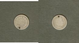 LOUIS-PHILIPPE Demi Franc 1845 B Rouen - G. 50 Céntimos