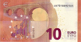 (Billets). 10 Euros 2014 Serie UD , U001B5 Signature Mario Draghi UNC  N° UD 7018892505 - EURO